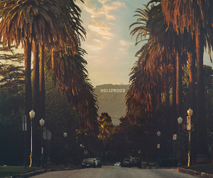 hollywood, california, and travel image