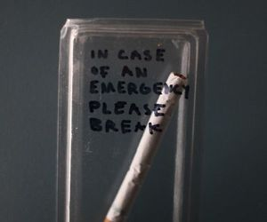 cigarette, smoke, and emergency image