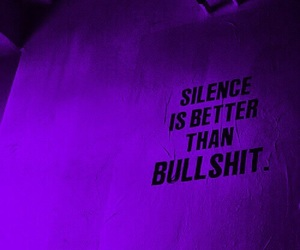 silence, quotes, and bullshit image