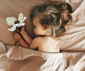 beautiful, child, and flower image