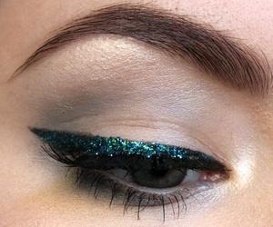 eye, makeup, and glitter image
