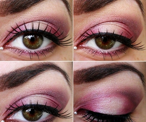 make up, makeup, and eye lashes image