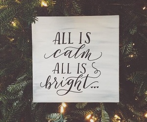 christmas, bright, and calm image