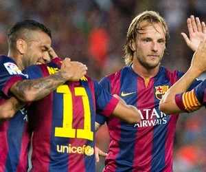 football, spain, and fc barcelona image