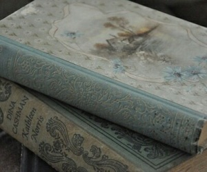 book, blue, and vintage image