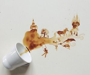 art, coffee, and nature image