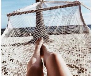 beach, summer, and legs image