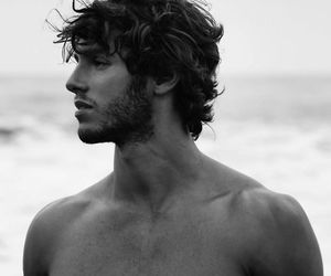 boy, black and white, and Hot image