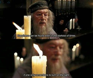 harry potter, dumbledore, and happiness image
