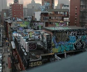 city, graffiti, and art image