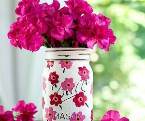 flowers, jar, and painted image