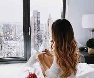 city, hair, and girl image