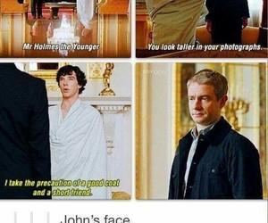 sherlock, funny, and john watson image