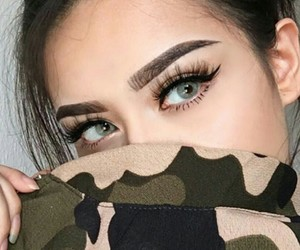 girl and eyes image