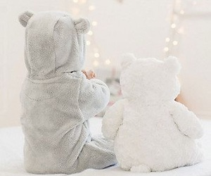 baby, family, and teddy bear image