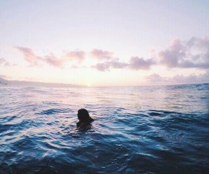 summer, ocean, and sky image
