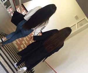sisters, hair, and friends image