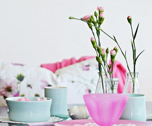flowers, pastel, and pink image
