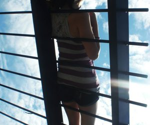 clouds and girl image