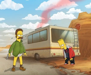 breaking bad, simpsons, and the simpsons image