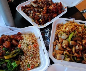 food, chinese, and yum image