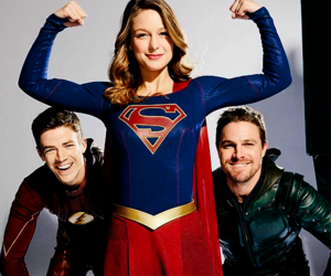 grant gustin and melissa benoist image