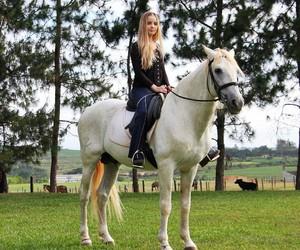 amazing, girl, and horse image