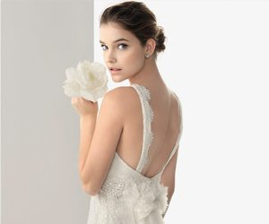 bride, wedding dress, and barbara palvin image