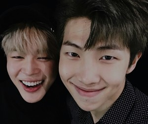 bts, jimin, and rap monster image