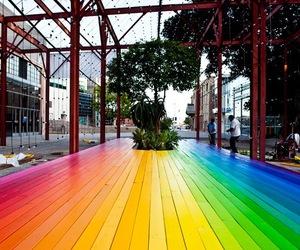 rainbow and floor boards image