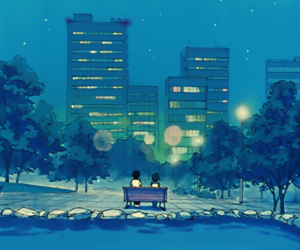 ami mizuno and sailor moon scenery image