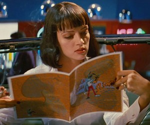 pulp fiction, mia wallace, and movie image