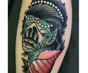 ink, nicholas g, and mermaid image