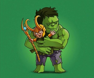 Marvel, Hulk, and loki image