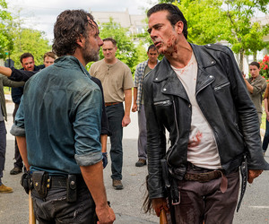 negan, rick, and the walking dead image