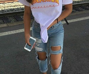 outfit, jeans, and tumblr image