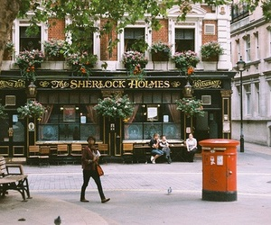 sherlock holmes, vintage, and london image