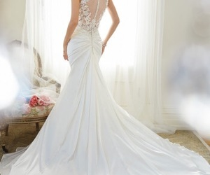 wedding dress, wedding, and white image