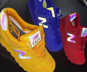 shoes, blue, and new balance image