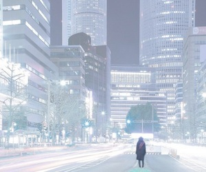 anime, scenery, and city image