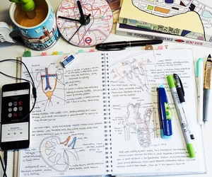 college, notebook, and notes image