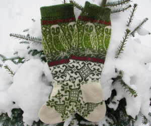 christmas, green, and leg warmers image