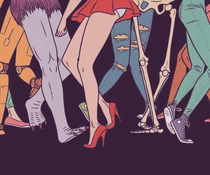 legs, dance, and monster image