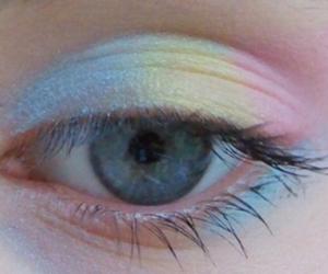 eye, rainbow, and eyes image