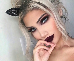 beautiful, girl, and makeup image