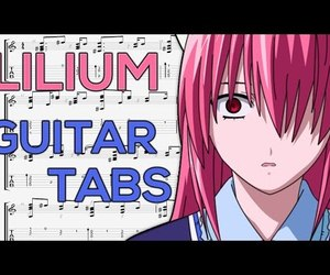anime, elfen lied, and guitar lesson image