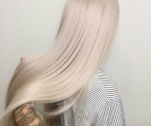 hair, blond, and hairstyle image