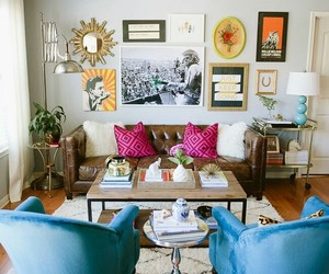 home decor, eclectic decor, and living room image