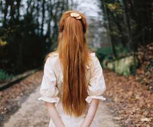 forest, ginger, and girl image