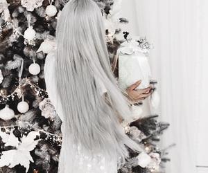 hair, fashion, and christmas image